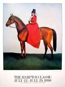 Hampton Classic Horse Show Poster 1990 Richard Mantel Original