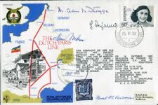 WW2 FOUR veterans of the Dutch Paris Resistance Line signed cover