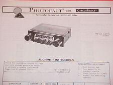 1976 AUDIOVOX AM-FM-MPX RADIO SERVICE MANUAL C-575B & C-579 CHEVROLET FORD DODGE