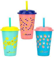Reduce GoGo's Kids Cutiepie Tumblers, On The Go Kids Drinks, 12 oz.-3Pk-Pink