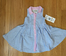 Nwt Rare Editions Pretty Pink And Blue Checked Dress Girls 3T