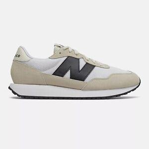 NEW BALANCE 237 Scarpe Uomo Sneakers Suede Textile WHITE BLACK MS237CB
