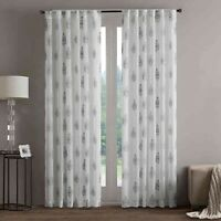 """Regency Heights Aria Stamp Sheer Taupe Rod Pocket 84"""" Window Curtain Panel"""