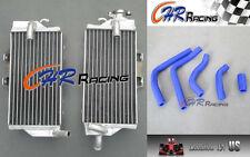 Aluminum Radiator & hose for Honda CR125 CR125R CR 125 R 2005 2007 2006 05 BLUE