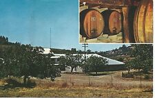 Plymouth CA D'Agostini Winery Postcard 1950s