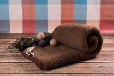 100% MERINO WOOL Marron Couverture SUPER KING sofa lit housse 250 x 200 cm