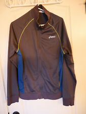 Asics Gray Neon Mens Size L Trainer Jacket