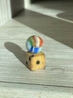 "Marbles: Very Rare Mint Marble King 5/8"" Dragon Fly Bee Hybrid Rainbow"