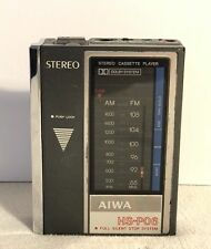 Vintage Aiwa Stereo Cassette Player HS-P06  TU-01 AM FM Tuner Japan Metal Tested