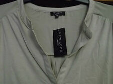 new look top size 26 (30) on tags plus size grandad collar taupe 3/4 sleeves