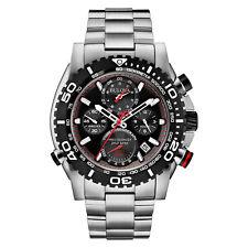 Bulova Men's Precisionist Chronograph Black Roating Bezel Band 47mm Watch 98B212