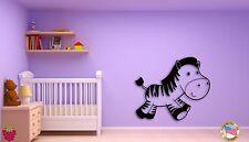 Wall Sticker For Kids Baby Zebra Modern  Cool Decor for Nursery Room z1401