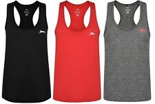 New Slazenger Loose Fit Vest Tank Top - Ladies Womens Gym Training Fitness