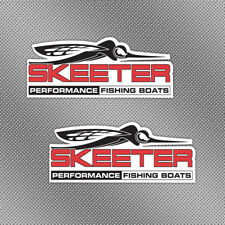 """2x Skeeter 6"""" Full Color Stickers Decals Fishing Boat Lure Trailer Tackle Box"""
