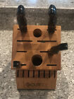 4 Piece Cutco Knife Set With Block Used