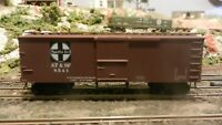 Roundhouse MDC HO Old Time 36' Boxcar, Santa Fe, Upgraded, Exc
