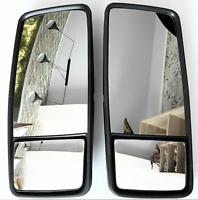 2x LKW Aussen Spiegel XL doppel 50 x 22 cm universal, toter Winkel + vergrößern