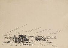 """2 Charts Canon Anglais Housen et rouge Maison 1945""""Encre de Chine sign. M."""