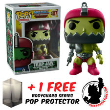 FUNKO POP MASTERS OF THE UNIVERSE TRAP JAW METALLIC EXCLUSIVE FREE POP PROTECTOR