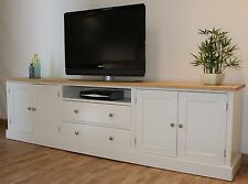 New Solid Pine 8FT Painted TV Stand/Unit/Cabinet In Any F&B Colour