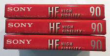 SONY Cassette Tape Lot 3 x C-90HFL High Fidelity Normal Bias New & Sealed