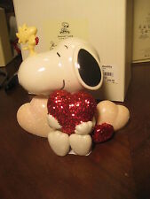 Lenox The Peanuts Gang Snoopy & Woodstock with Heart Hearts Snoopy Love New