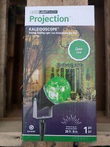 Gemmy LED LightShow Green Kaleidoscope Projection outside Light NEW