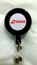 SwissAir YO YO ID Card Badge Holder Retractable Reel Lanyard SR Airlines Logo
