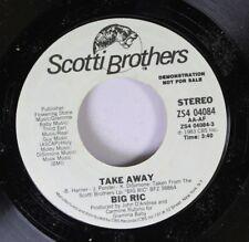 Rock Promo 45 Big Ric - Take Away / Take Away On Scotti Brothers