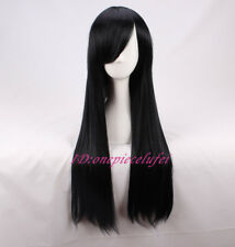 The Incredibles Violet Parr Long Straight Black Anime Cosplay Wig +a wig cap