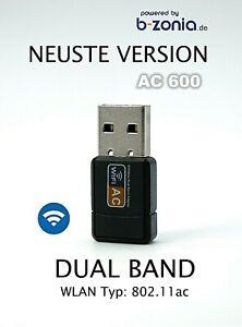 AC 600 Mbps WLAN WIFI Adapter Stick Dual Band 2.4GHz 5GHz USB Wireless 🔥 🔥 🔥