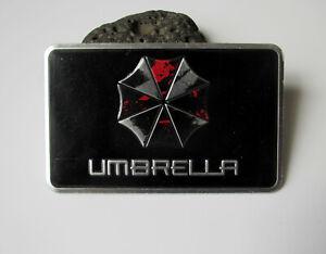 Umbrella Corporation Auto Emblem Aufkleber - Metall - rechteckig - schwarz