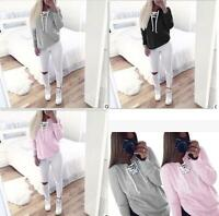 Womens Lady Long Sleeve Hoodie Sweatshirt Sweater Casual Hooded Coat Pullover 50