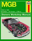 MGB (62 - 80) Haynes Repair Manual