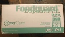 Amer Care Good Guard Disposable P.E. Gloves Large 399-3