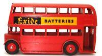 """DINKY NO. 291 DOUBLE DECKER BUS - LEYLAND - """"EXIDE BATTERIES"""" 1961 - RARE - L2"""