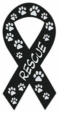 Ribbon Shaped Magnets: Rescue (Dogs, Cats, Pets) | Cars, Trucks, Support Ribbons