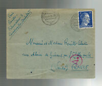 1943 Lauenburg Germany Cover to Verdu France