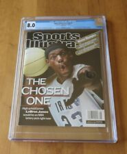 2002 LEBRON JAMES RC First Sports Illustrated Magazine Rookie CGC 8.0 NEWSSTAND