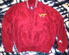 Starter Virginia Tech Hokies Mens Pullover Jacket Size XL