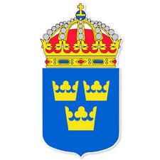 "Sweden Swedish Coat of Arms bumper sticker 3"" x 5"""