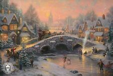 "Spirit of Christmas -- 8 1/4"" x 5 1/2"" -- Painter Thomas Kinkade Dealer Postcard"