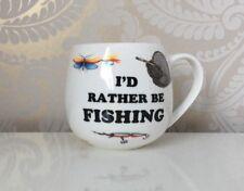Bone China I'd Rather Be Fishing Huggie Mug Chintz Hand Decorated Gift Idea