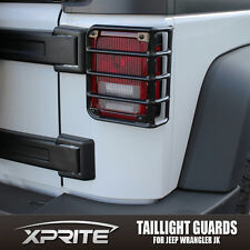 Xprite One Pair Steel Light Guard For Rear Tail Lights 07-18 Jeep Wrangler JK