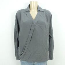 MADELEINE Bluse Seide Silk Grau Gr. DE 40 L