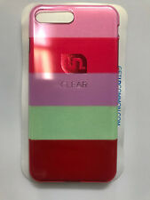 Uncommon Hardshell Case for Apple iPhone 7 Plus - Clear Rainbow Stripes