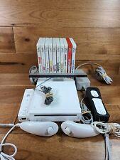 Nintendo Wii Bundle Console 10 Games Wii Remotes Nunchuck Power Cord Super Mario