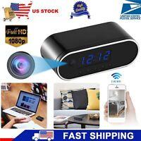 HD 1080P Alarm Clock Camera Clock WiFi Wireless Night Vision Security Nanny Cam