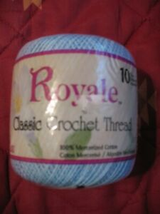 Royale Classic Crochet Thread Size 10 DELFT, NEW 350 Yards