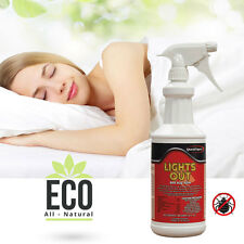 Lights Out All Natural Bed Bug Killer Spray Eco-Friendly Non-Toxic Organic, 32oz